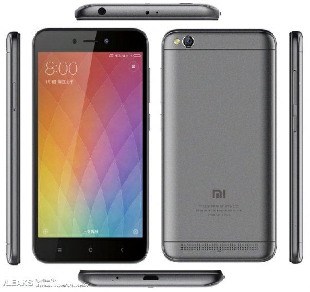 Xiaomi Redmi 5A'nın Basın Görselleri Sızdı!